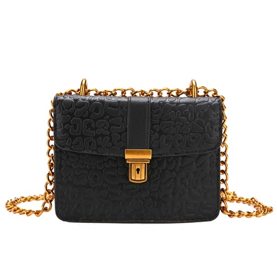 Vintage Embossing Chain Mini Cross Body Bag