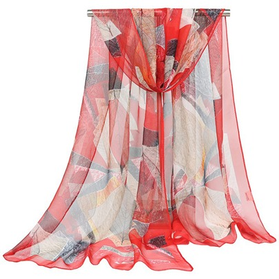 Thin Georgette Geometric Pattern Hot Sale Scarfs