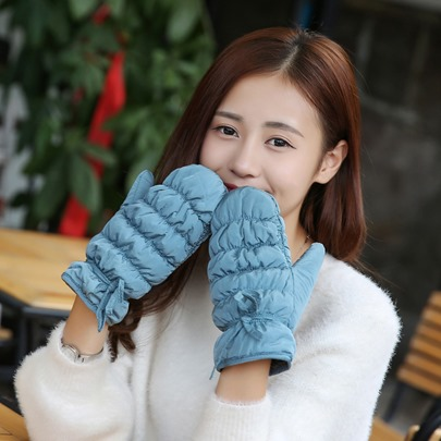 Hot Sale Water Resistant Down Feather Gloves