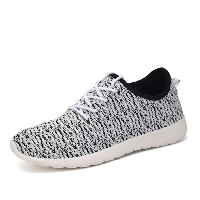 Round Toe Flat Heel Lace-Up Front Contrast Color Men's Sneakers