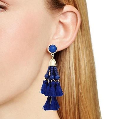 All Match Beads Imitation Pearl Tassel Earrings