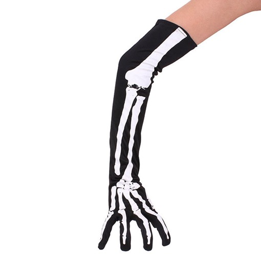Skull Hollowen Cosplay Long Arm Gloves