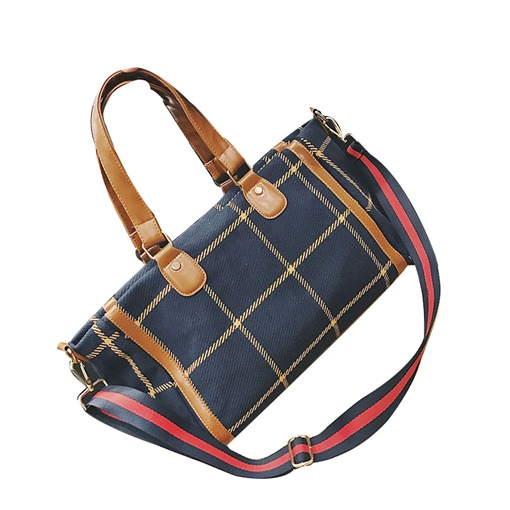Classic Plaid High Capacity Women Shoulder Bag