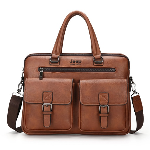Casual Solid Color Men's Business Bag