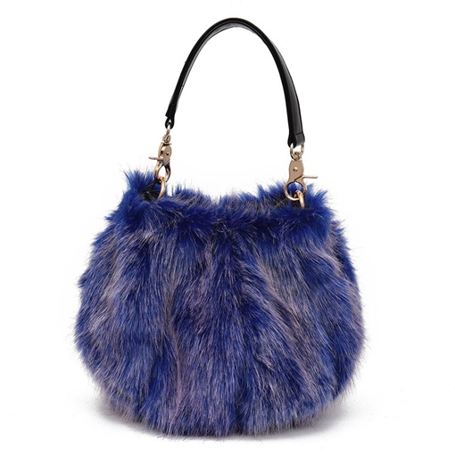 Causal Solid Color Plush Cross Body Bag