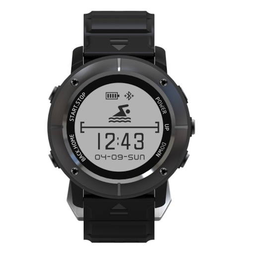 UW80 Sports Smart Watch with GPS/Waterproof/Heart Rate Monitor/Compass