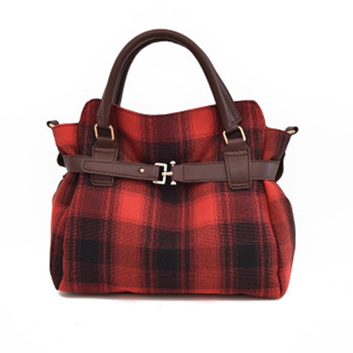 Well Match Plaid Pattern Women Handbag