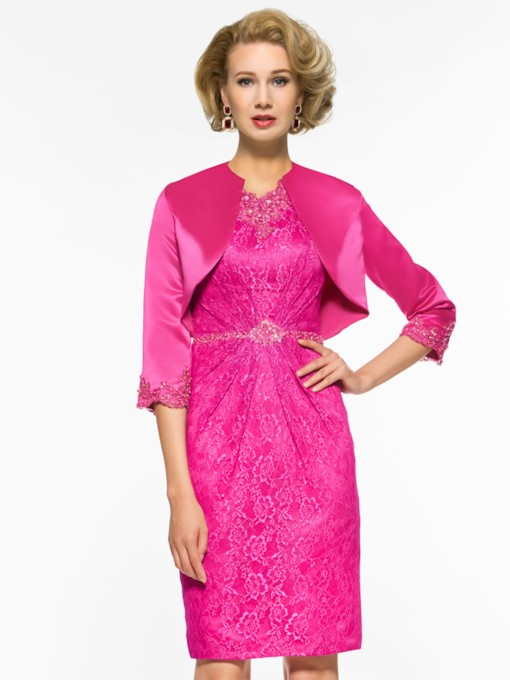Sheath Lace Beading Mother Of The Bride Dress