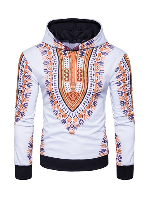 Dashiki Hooded African Ethnic Printed Totem Slim Fit Casual Men's Hoodie