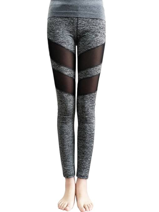 Hollow Patchwork High Waist Women's Leggings