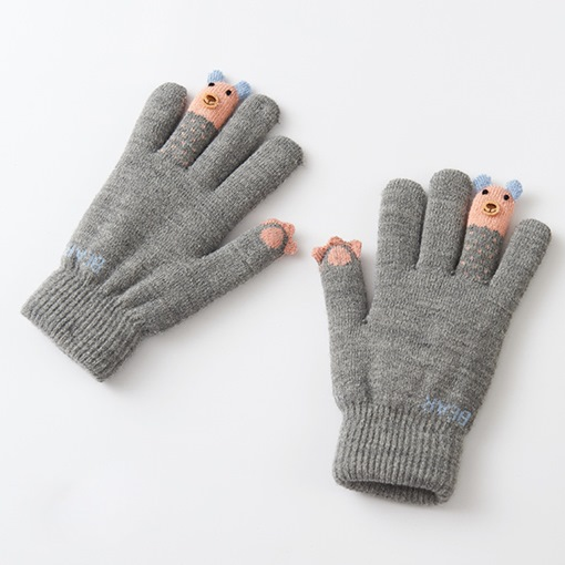 Cartoon Orlon Thicken Touch Screen Sweet Gloves