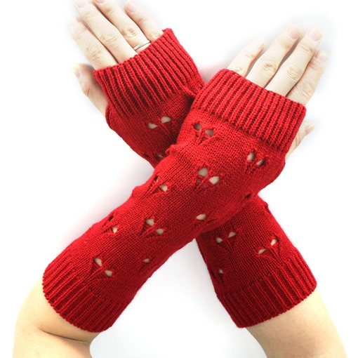 Heart Design Twist Wave Korean Style Gloves