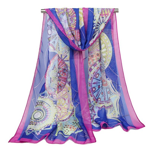Sun Block Chiffon Colorful Lighter Scarfs