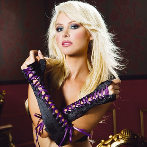Satin High Quality Ribbon Sexy Gloves