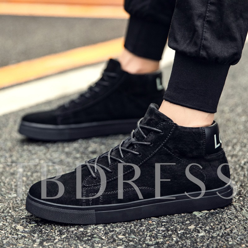 High Cut Suede Lace Up Winter Shoes for Men