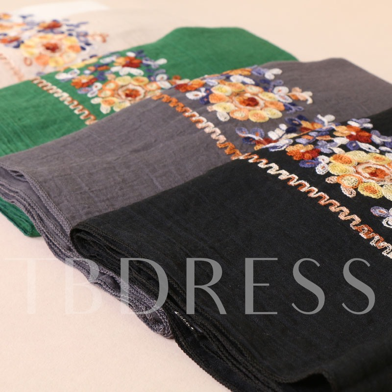 Embroidery Cotton Printing Hot Sale Scarfs