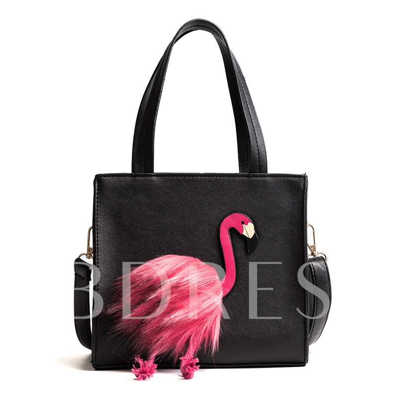 Novelty Swan Decoration Zipper Shoulder Bag