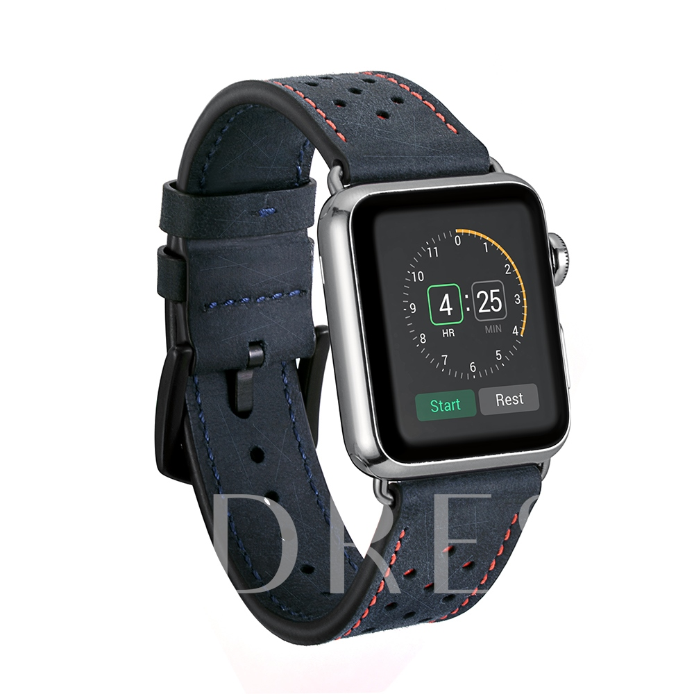 Apple Watch Band,Artificial Leather Smart Watch Strap for Apple Watch 3/2/1