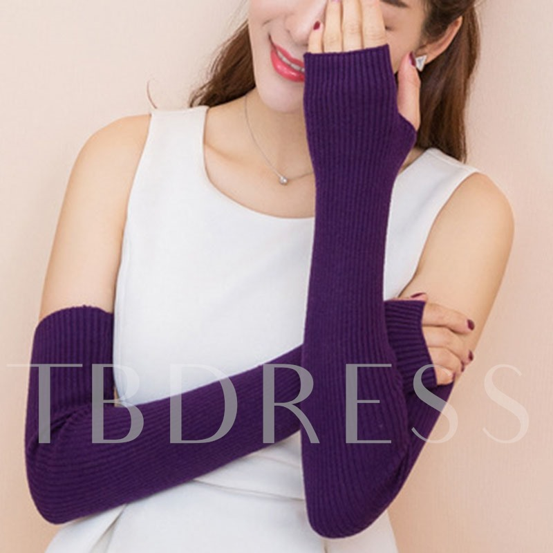 Wrist Guard Warmth Mitt Pure Colour Gloves