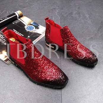 Gradient Color Full Sequin Chic Glossy Dress Shoes for Men