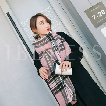 England Style Plaid All Match Thicken Warmth Scarfs