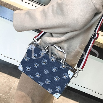 Personality Ripped Jeans Design Cross Body Bag