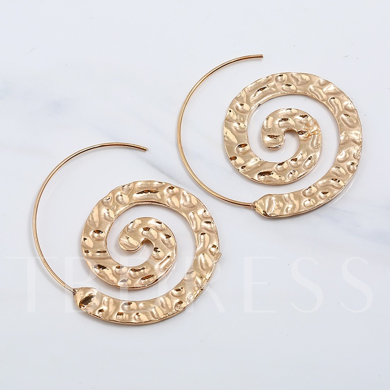 Overgild Circle Alloy Personalized Punk Earrings