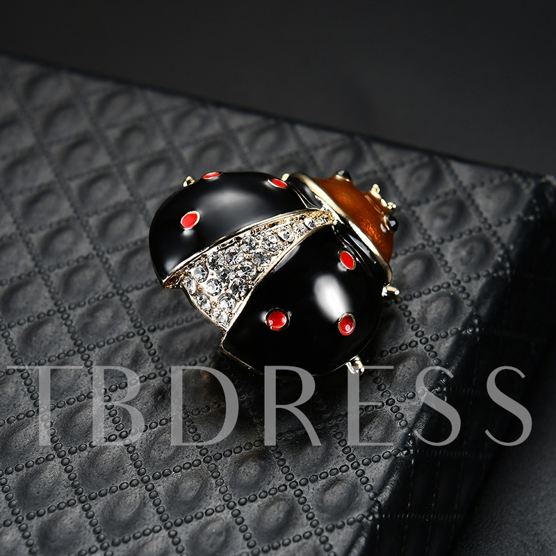 Alloy Rhinestone Beetle Shaped Diamante Women's Brooche