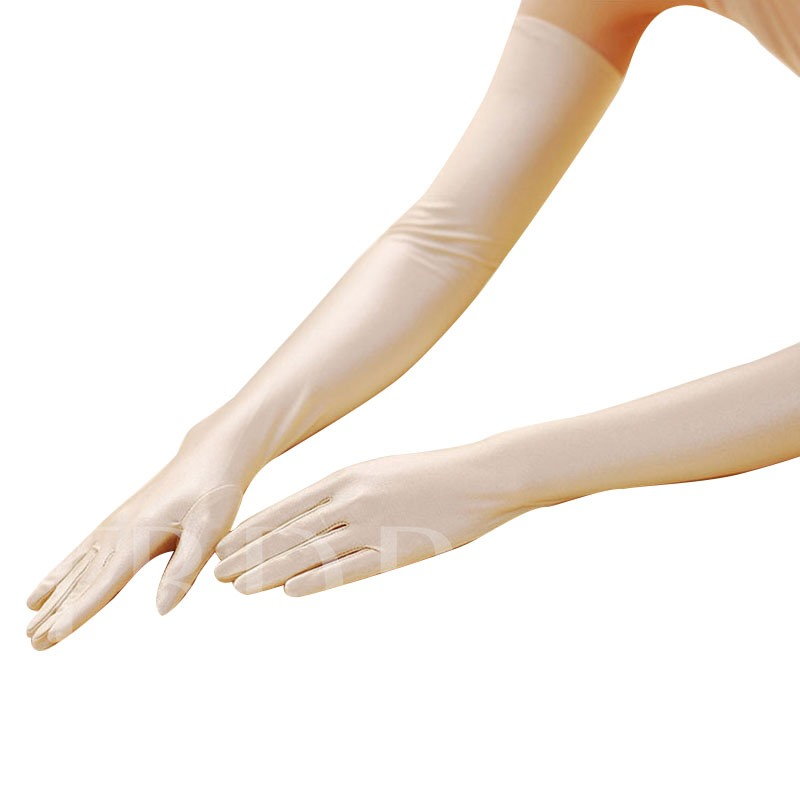 Ultraviolet-Proof Lengthen Spandex Solid Color Gloves
