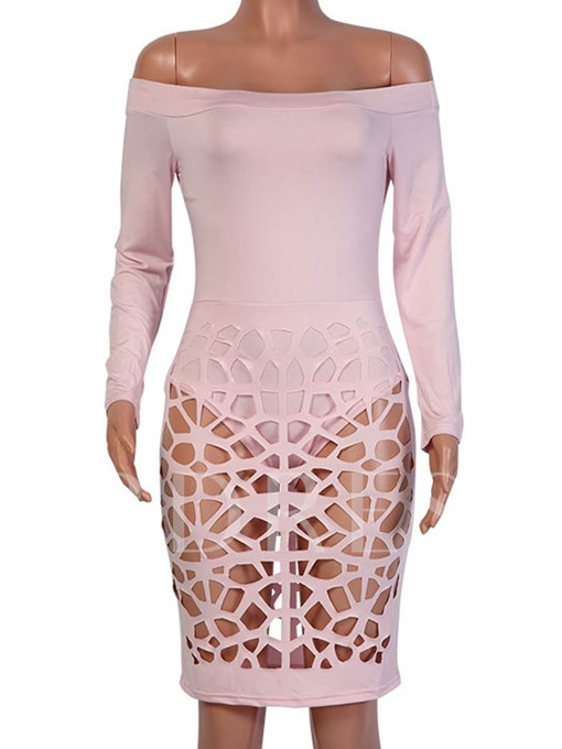 Off Shoulder See-Through Women's Sexy Dress