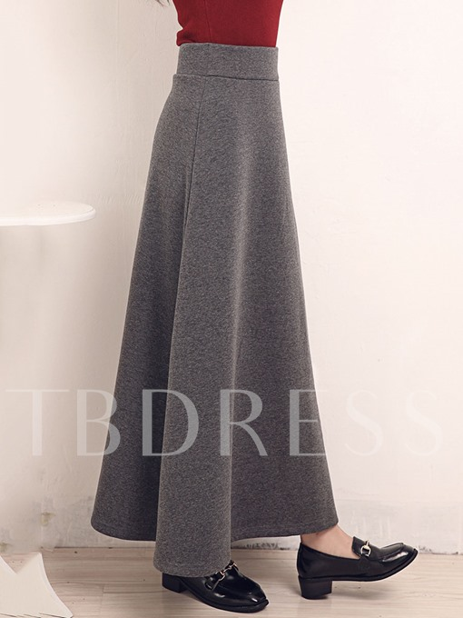 A-Line Expansion Ankle Length Patchwork Women's Skirt