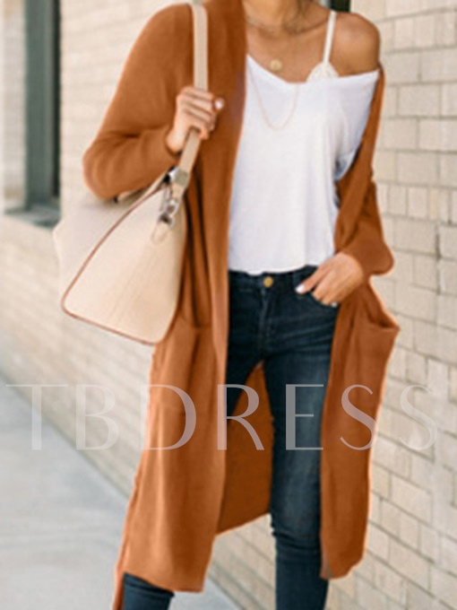 Long Thin with Pockets Sweater Women's Cardigan