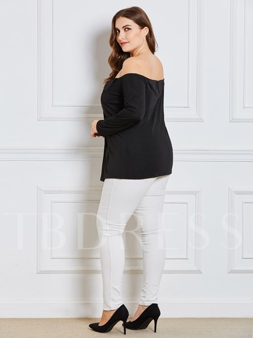Double-Breasted Backless Slim Fit Women's T-Shirt