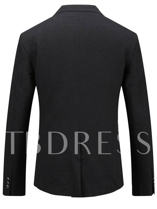 Notched Collar Rose Patchwork Double Button Slim Men's Casual Blazer
