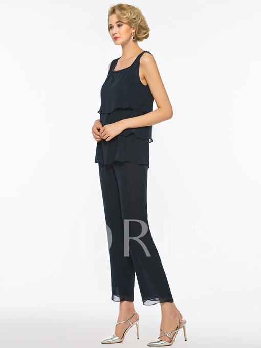 Straps Beading Mother of the Bride Jumpsuit