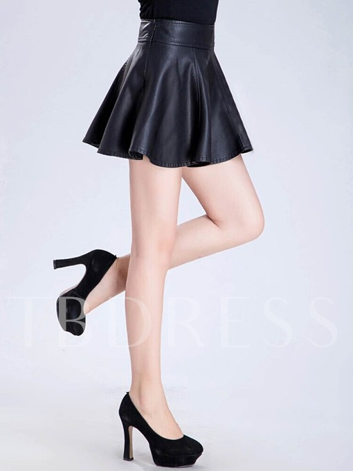 Winter A-Line Pleated Patchwork Women's Mini Skirt