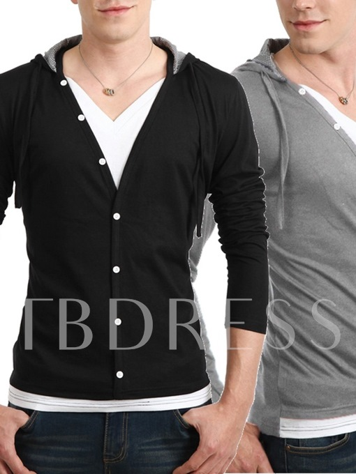 Men's Fake Two Piece Long Sleeve Tee