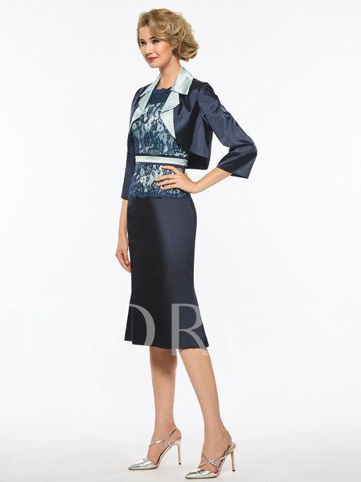 Sheath Lace Mother Of The Bride Dress With Jacket