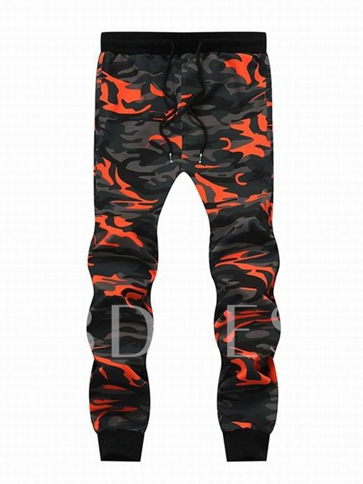 Lace-up Camouflage Cotton Casual Casual Men's Pants