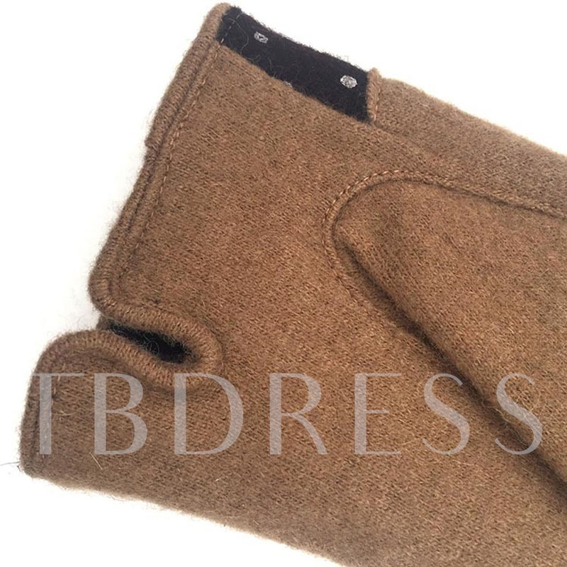 Bowknot Wave Point Cashmere Warmth Gloves