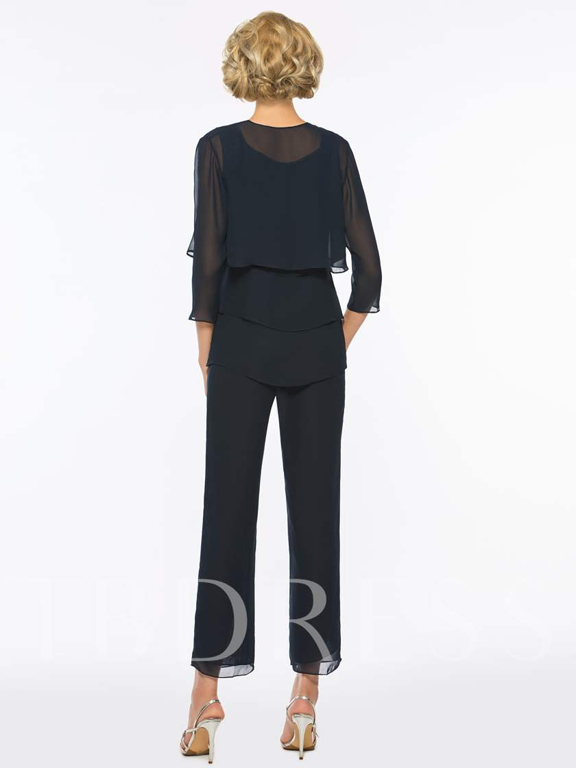 3 Pieces Beading Mother of the Bride Pantsuits
