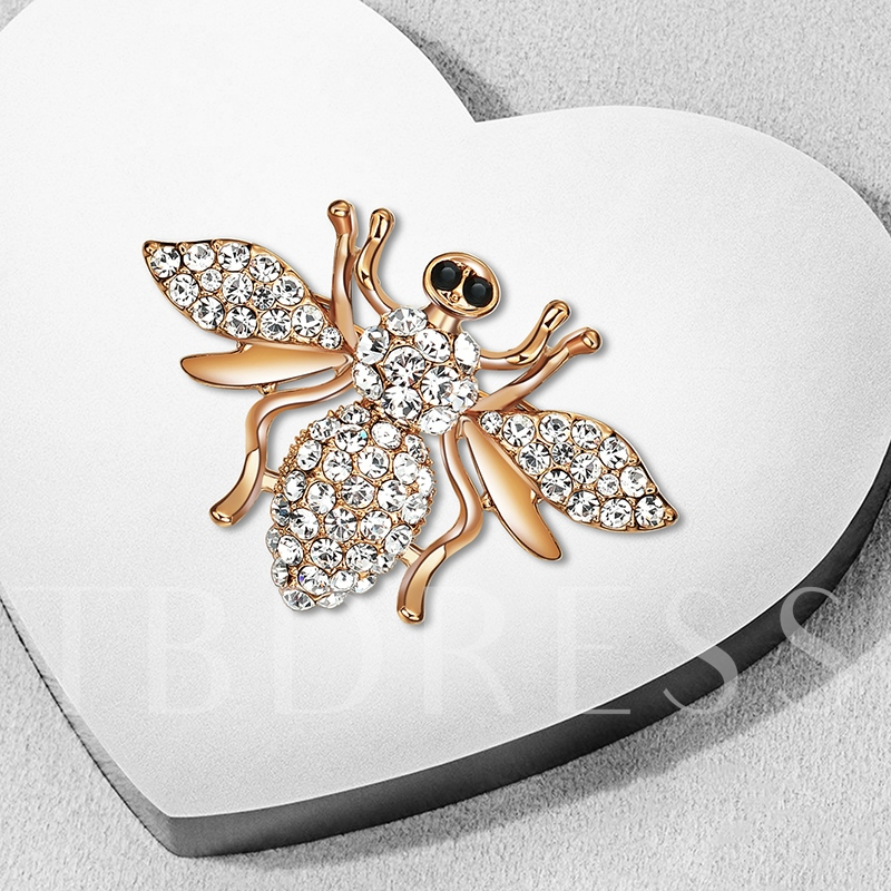 Full Drill Overgild Alloy Insect Shaped Women's Brooches