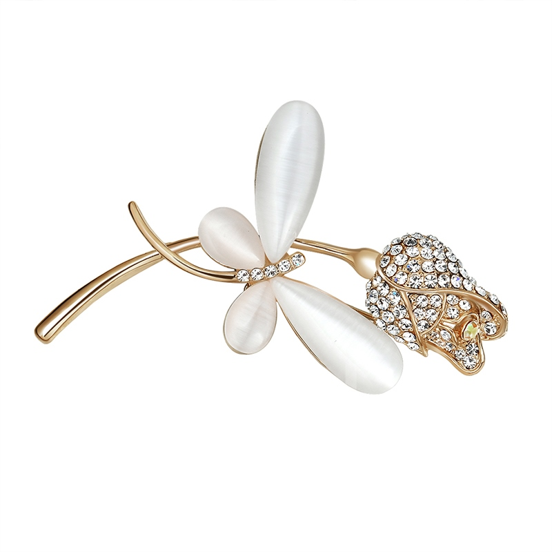 Butterfly Flower Diamante Pearl Sweet Women's Brooches