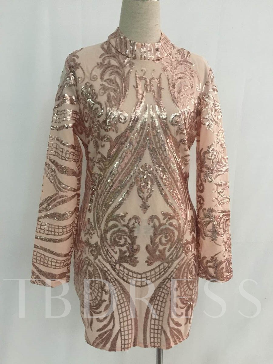 Buy Long Sleeve Sequins Decorated Women's Bodycon Dress, Spring,Summer,Fall,Winter, 13015514 for $28.99 in TBDress store