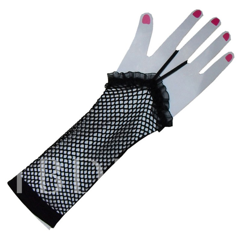 Lace Fishing Net Dancing Party Performance Gloves