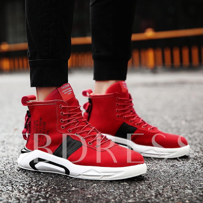 Print Letter Cloth Men's Chic Shoes Fashion Skaters