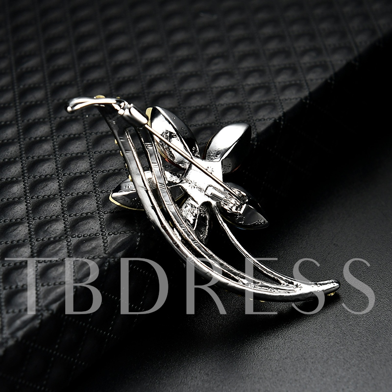 Alloy Colorful Flower Imitation Zircon Women's Brooches