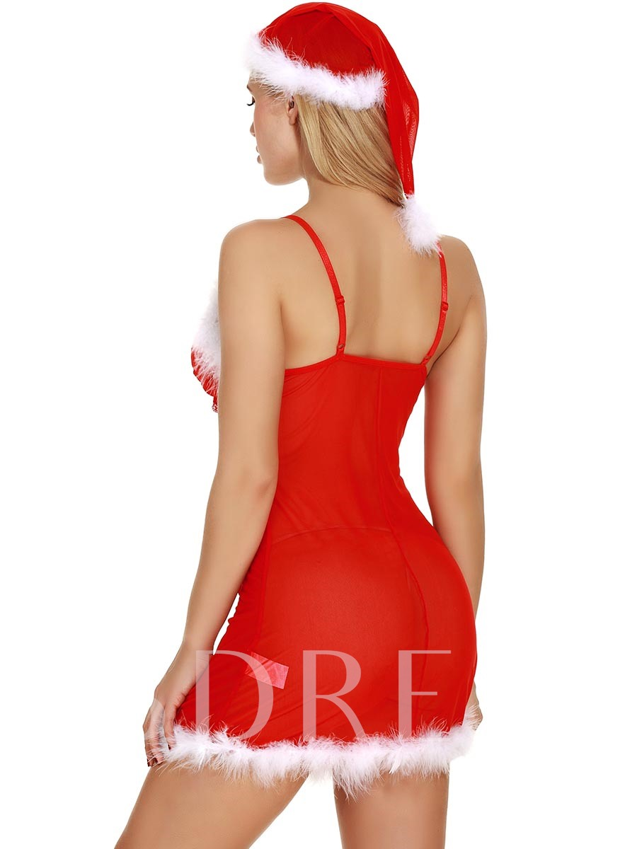 Red Charming Sexy Bowknot Dress