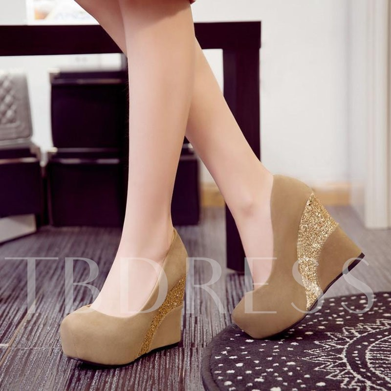 Wedge Heel Sequin High Platform Shoes for Women