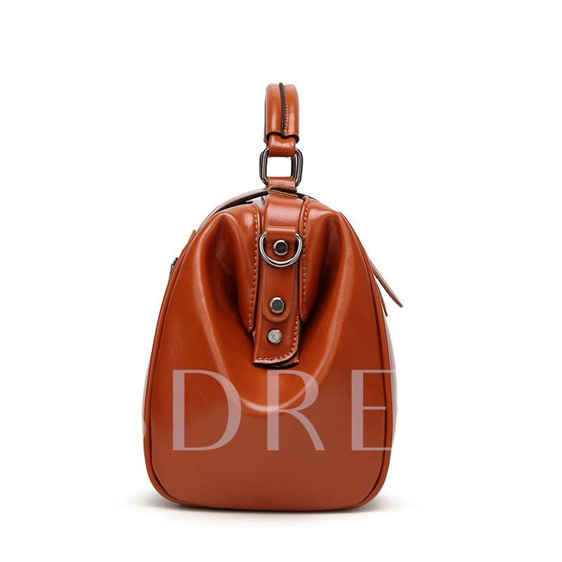 Ladylike Solid Color Huge Space Women Tote